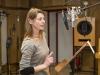 Hörspielproduktion NACHRUFE, Bettina Kurth (Foto:MDR/Hagen Wolf)