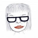 Porträt Astrid Umbreit (Zeichnung: Oscar Burger)
