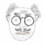 Porträt Ricardo Knallzig (Zeichnung: Oscar Burger)