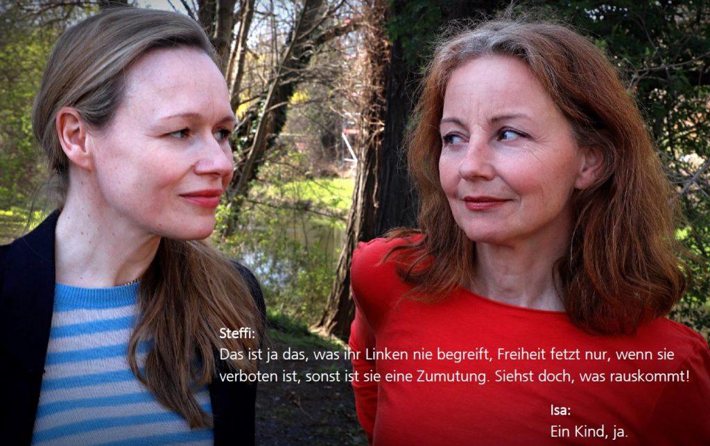 """Anja Schneider und Carina Wiese (v.l.) als Isa und Steffi in """"Gefundenes Fressen"""" (Foto: Olaf Parusel/MDR)"""