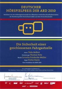 Deutscher Hörspielpreis der ARD 2010