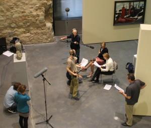 """Aufnahmen zu """"Das Deutschlandgerät"""" im Kunstmuseum Moritzburg Halle a.d.Saale (Foto: Thekla Harre)"""