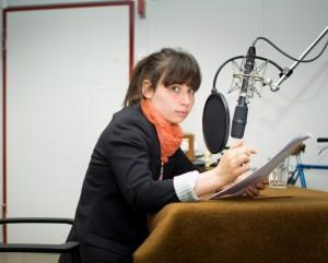 Marina Frenk während der Aufnahmen