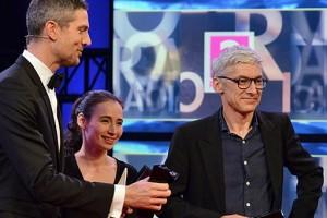 Ingo Zamperoni, Marina Frenk und Stefan Kanis bei der CIVIS-Preisverleihung